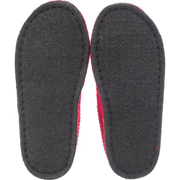 HAFLINGER, HAFLINGER Flair Radl beliebte Hausschuhe, rot  Gute Qualität beliebte Radl Schuhe ce292f