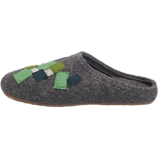 HAFLINGER, HAFLINGER Everest Pixel Hausschuhe, grau-kombi  Gute Qualität beliebte Schuhe