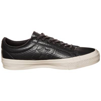 CONVERSE, Converse Cons One Star Leather OX Sneaker, schwarz