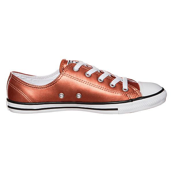 CONVERSE, Converse Chuck Taylor All Star Dainty Metallic  OX Sneaker, kupfer   Metallic 28f508