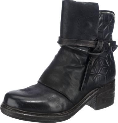 A.S.98 Klassische Stiefeletten, schwarz, schwarz