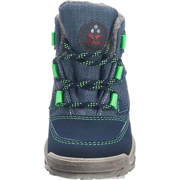 PEPINO by RICOSTA Baby Winterstiefel, Sympatex, Weite W für breite Füße, für Jungen hellblau