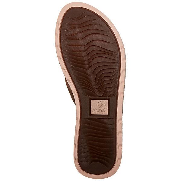 REEF, Reef  Voyage Leather Pantoletten, hellbraun  Reef  32fbe5