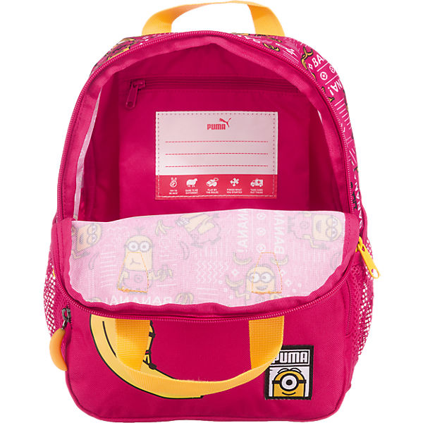 PUMA PUMA Kindergartenrucksack Minions für Mädchen, 11l pink