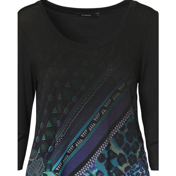 Desigual Shirt 3 Arm blau 4 FFw7r