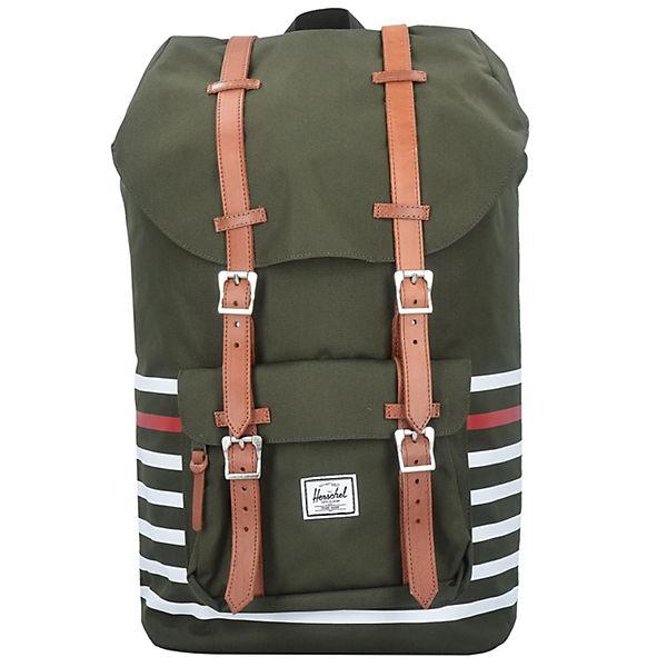 herschel little america 17 backpack rucksack 52 cm laptopfach gr n mirapodo. Black Bedroom Furniture Sets. Home Design Ideas
