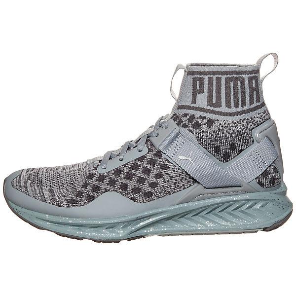 puma puma ignite evoknit metal sneaker damen grau kombi. Black Bedroom Furniture Sets. Home Design Ideas
