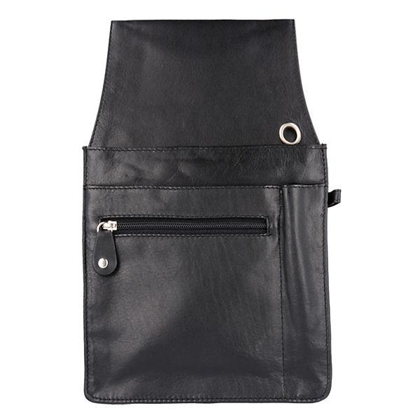 Esquire Esquire Eco Gürteltasche / Kellnerbörse Leder 15cm schwarz