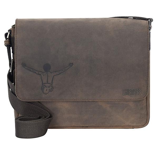 CHIEMSEE CHIEMSEE Valencia Vintage Messenger Tasche Leder 30 cm Tabletfach braun