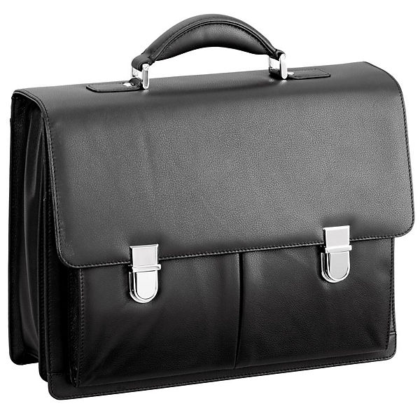 D&N Business Line Aktentasche Leder 40 cm Laptopfach