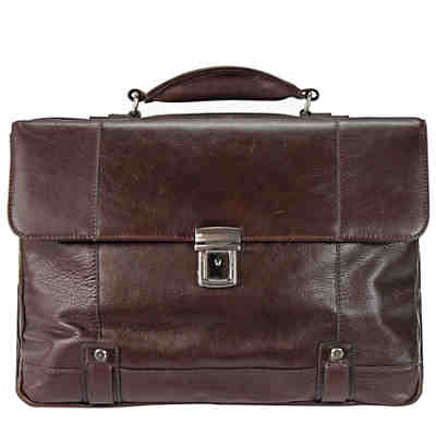 D&N Classic Brown Aktentasche Leder 40 cm Laptopfach