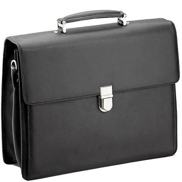 D&N D&N Business Line Aktentasche I Leder 40 cm schwarz