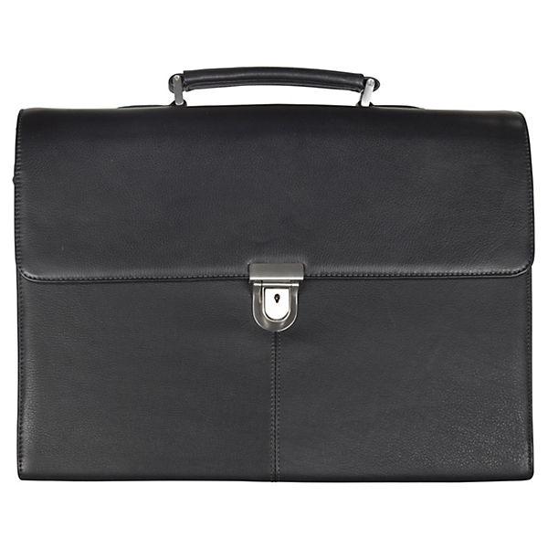 D&N D&N Business Line Aktentasche Leder 42 cm schwarz