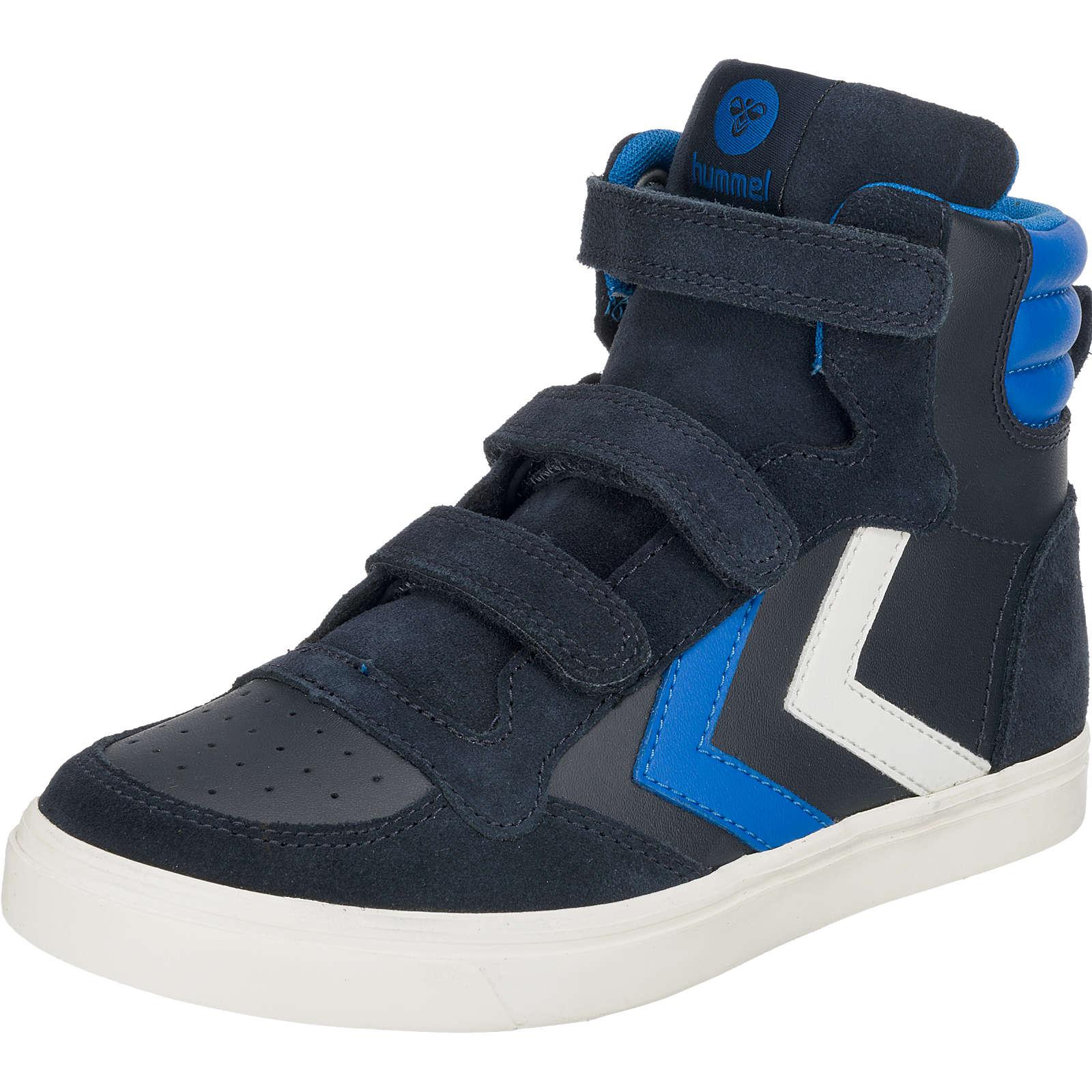 hummel Kinder Sneakers high STADIL aus Leder dunkelblau Gr. 36