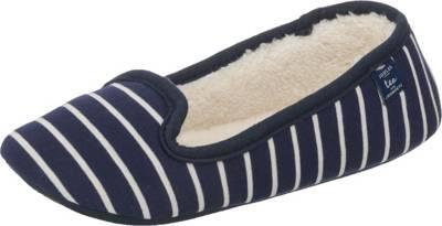 Tom Joule Slip On Slipper Geschlossene Hausschuhe, blau, blau/weiß