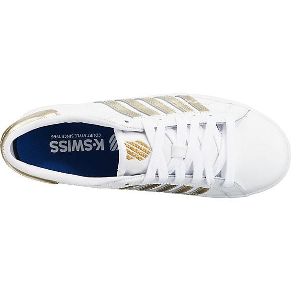 K-SWISS Belmont SO Sneakers Low weiß/gold