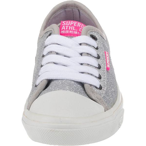 Superdry Low Pro Glitter Sneaker Sneakers Low grau-kombi