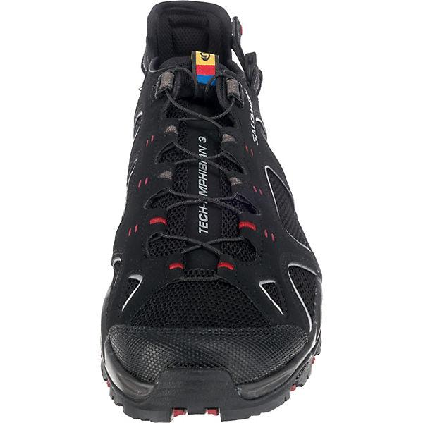 Salomon Schuhe TECHAMPHIBIAN 3 Black/ATOB/FLEA Outdoorsandalen schwarz