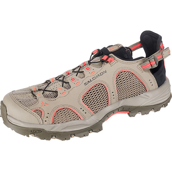 Salomon Schuhe TECHAMPHIBIAN 3 W Black/CLD/PAPAY Outdoorsandalen khaki