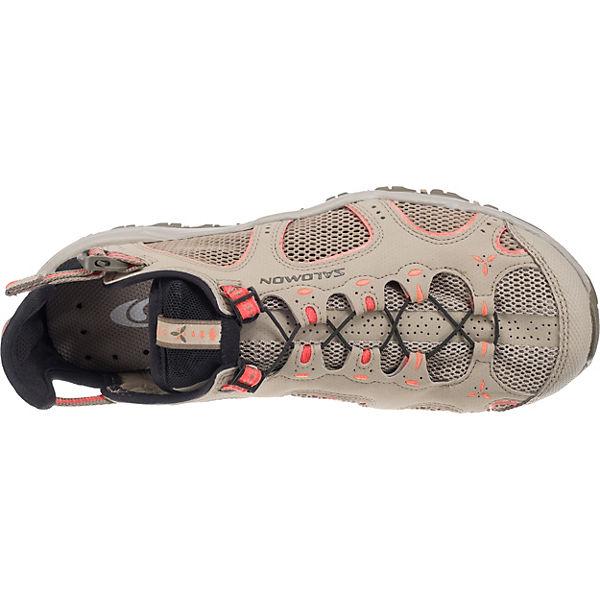 Salomon Schuhe TECHAMPHIBIAN 3 W Black/CLD/PAPAY Outdoorsandalen khaki