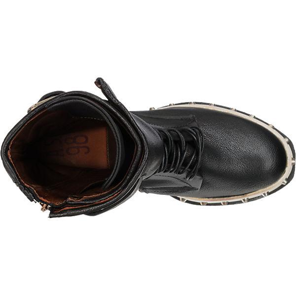 schwarz Stiefeletten A Plateau kombi S 98 wq6R6AI