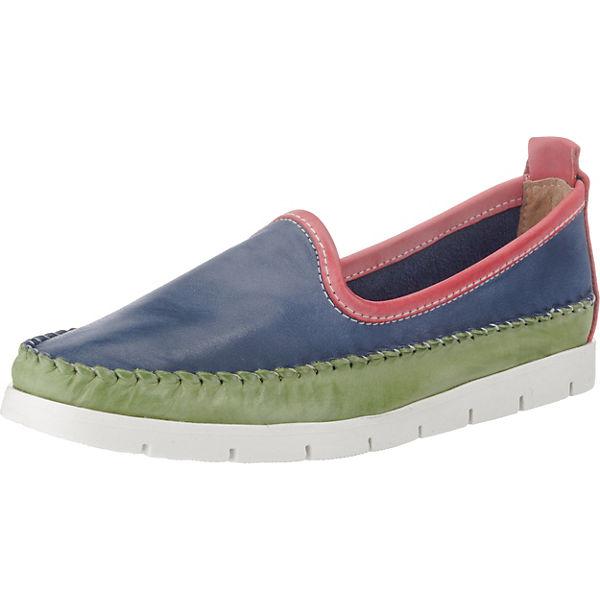 Double You Bootsschuhe blau/grün