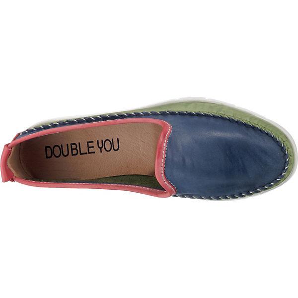 You Bootsschuhe Double grün blau grün Bootsschuhe grün You Double Double You blau Bootsschuhe You blau Double Yx1TFAqa
