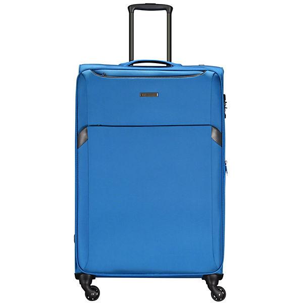 D&N D&N Travel Line 7604 4-Rollen Kabinentrolley 55 cm blau