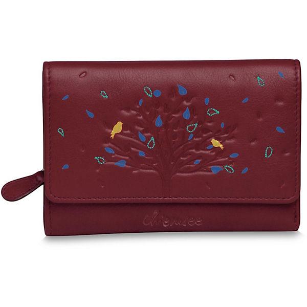 CHIEMSEE CHIEMSEE Chiemsee Tree Multifunktionsbörse M Geldbörse Leder 14,5 cm rot