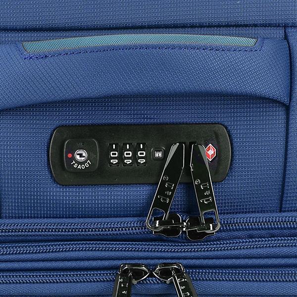 D&N D&N Travel Line 7904 S 4-Rollen Kabinentrolley 54 cm blau