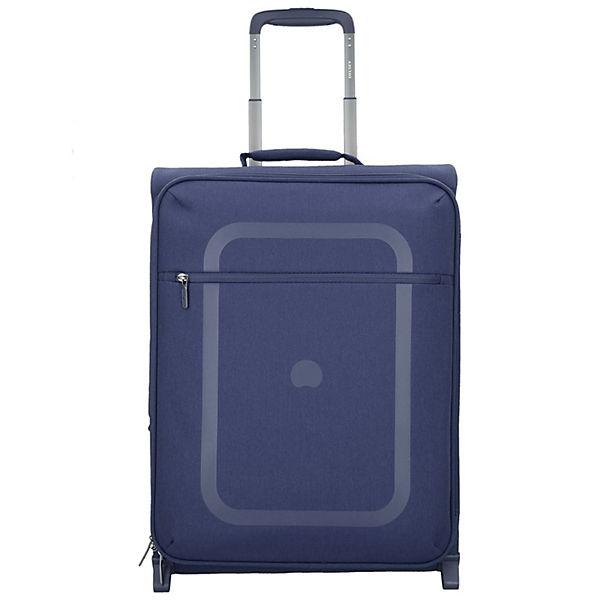 Delsey Delsey Dauphine slim line 2-Rollen Kabinen Trolley 55 cm blau