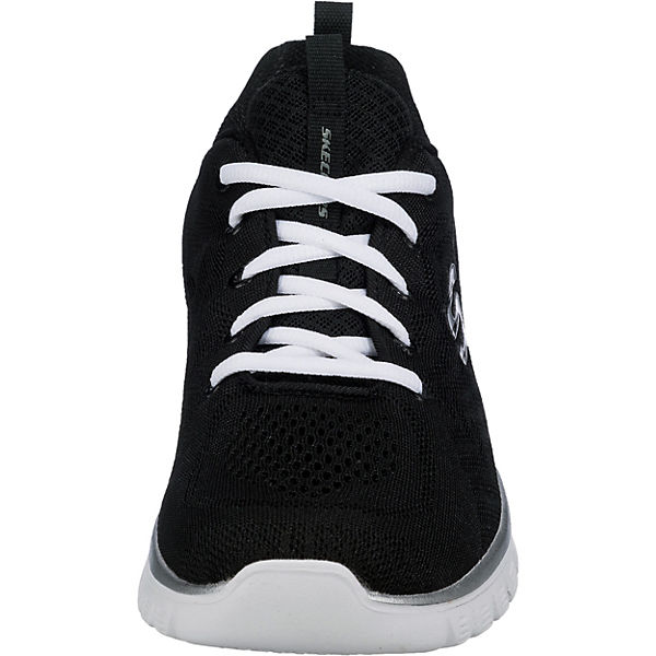 schwarz CONNECTED nbsp;GET GRACEFUL Low Sneakers SKECHERS Bqf1OEWPE