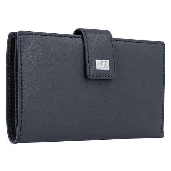 mano Mano Geldbörse 15,5 cm Leder blau