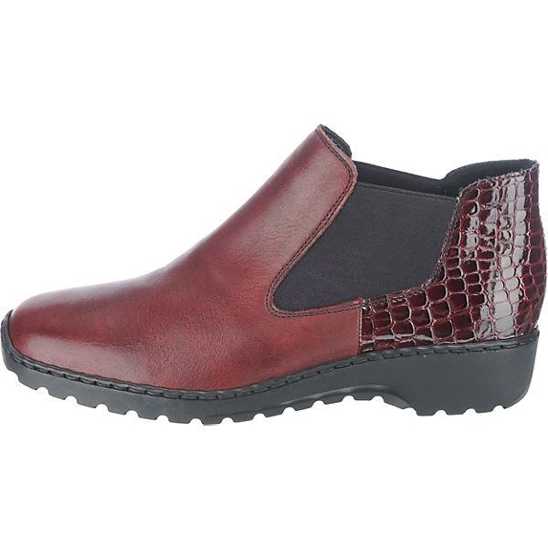 rieker rot Chelsea rieker Chelsea Boots Boots braun rot 4n4qTPaFxO