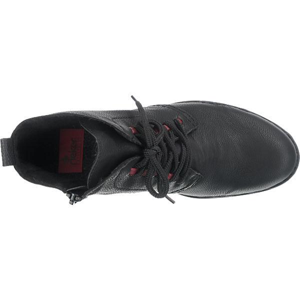 rieker, rieker Stiefeletten, schwarz schwarz Stiefeletten,   0718a9