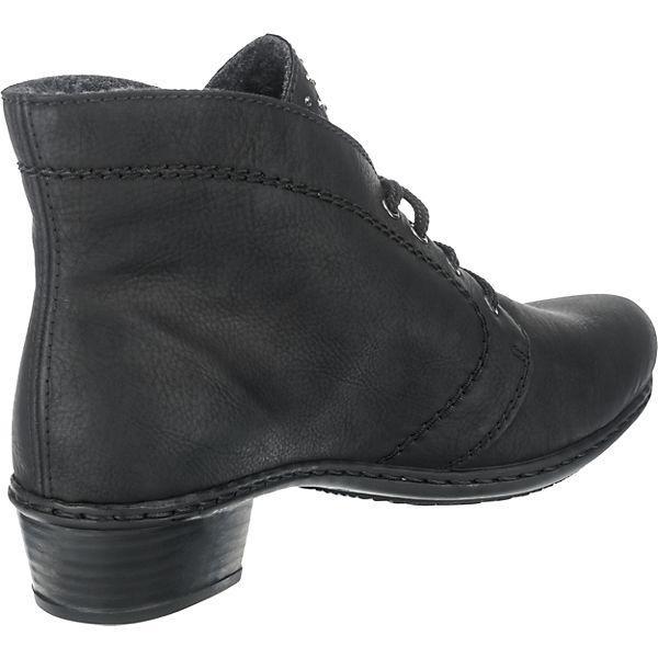 rieker, Schnürstiefeletten, schwarz schwarz schwarz   793ba5