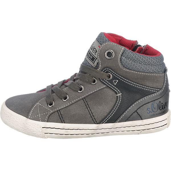 s.Oliver Sneakers High für Jungen grau