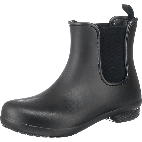 low priced ff5c2 29154 crocs, Crocs Freesail Chelsea Boot W Blk/Blk Gummistiefel, schwarz