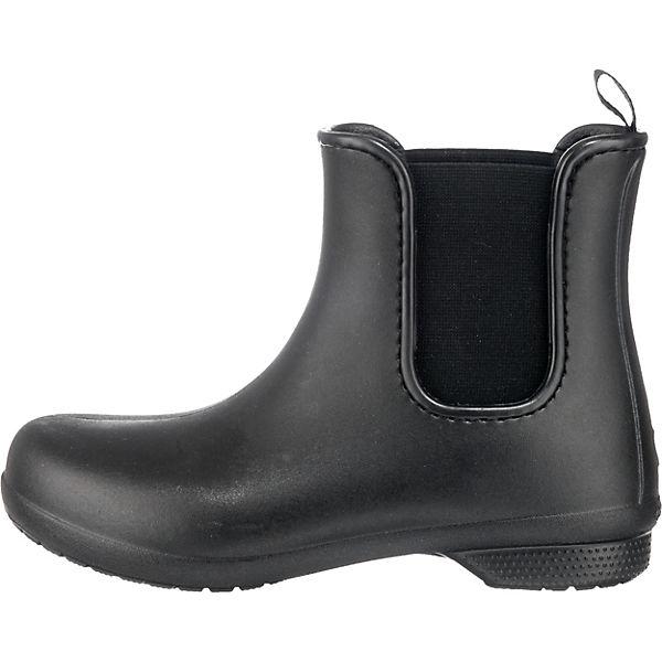 crocs, Crocs Gummistiefel, Freesail Chelsea Boot W Blk/Blk Gummistiefel, Crocs schwarz   17a7bb