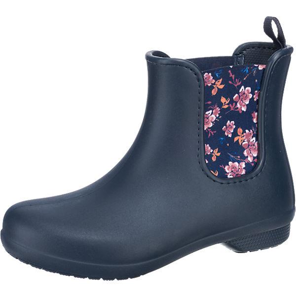 crocs Crocs Freesail Chelsea Boot Schlupfstiefel blau-kombi