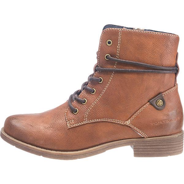 TOM TAILOR, TOM TAILOR Stiefeletten, cognac  Gute Qualität beliebte Schuhe