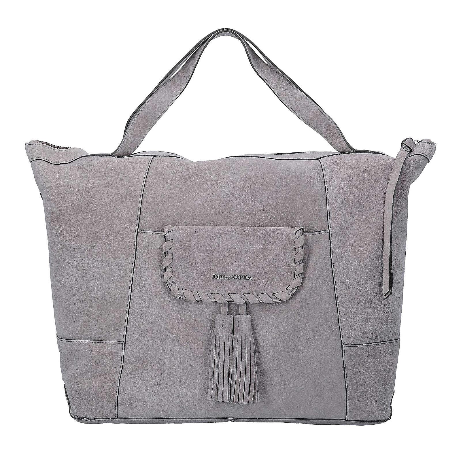Shopper Rieke L Handtasche Leder 39 cm Marc O´Polo grau - broschei