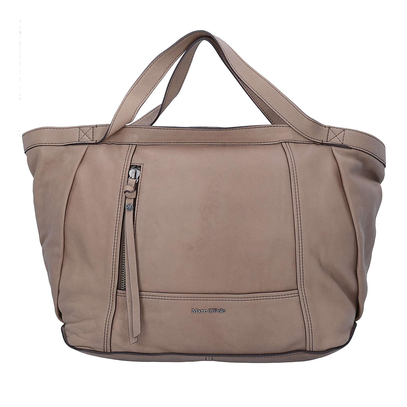 Loana L Shopper Tasche Leder 40 cm Marc O´Polo taupe jetztbilligerkaufen