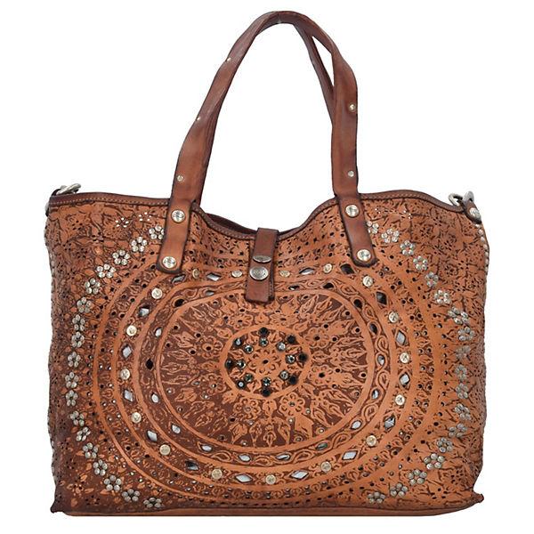 Campomaggi Campomaggi Echinacea Shopper Tasche Leder 46 cm braun