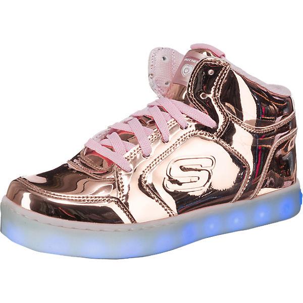 skechers kinder sneakers high blinkies mit led sohle f r m dchen gold mirapodo. Black Bedroom Furniture Sets. Home Design Ideas