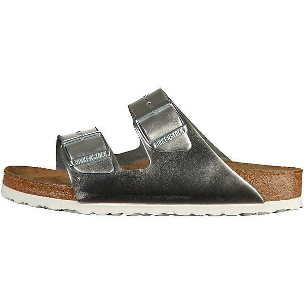 BIRKENSTOCK BIRKENSTOCK Pantoletten Arizona BS silber  Gute Qualität beliebte Schuhe