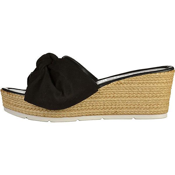 MARCO TOZZI, MARCO TOZZI Pantoletten, schwarz Schuhe  Gute Qualität beliebte Schuhe schwarz e9725b