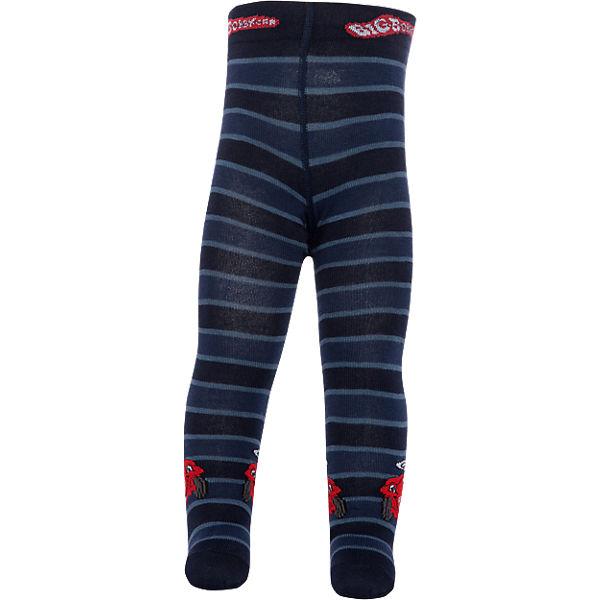 ewers Bobby Car Baby Strickstrumpfhose für Jungen dunkelblau