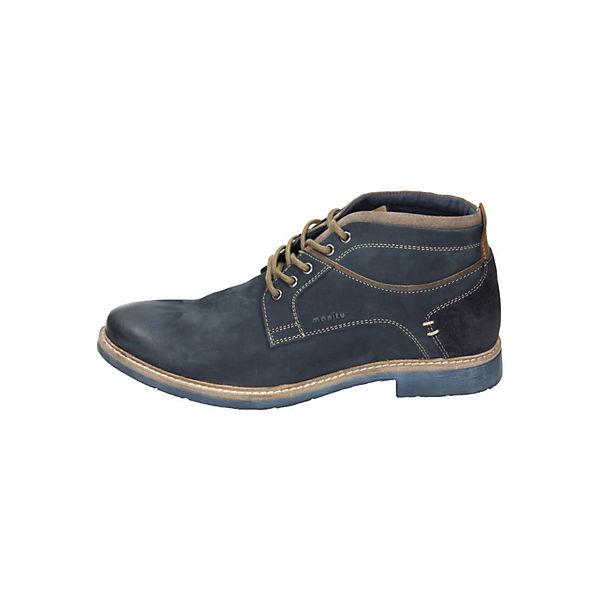 Manitu, Manitu Herren Stiefel, blau Schuhe  Gute Qualität beliebte Schuhe blau 4bdafb