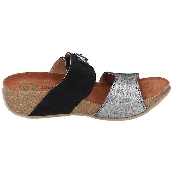Dr. Brinkmann, Dr. Brinkmann Damen Qualität Pantolette, grau-kombi  Gute Qualität Damen beliebte Schuhe 651475